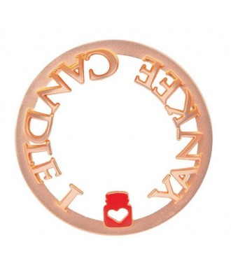 I Love YC Nakładka na Świecę Rose Gold (Illuma-Lid)