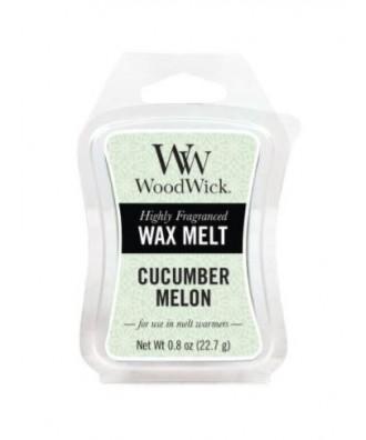 Woodwick - Cucumber Melon - Ogórek i Melon - Wosk Zapachowy