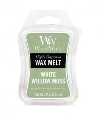 Woodwick - Wosk Zapachowy - White Willow Moss - Mech i Wierzba