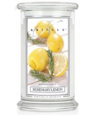 Kringle Candle - Rosemary Lemon - Rozmaryn i Cytryna - Świeca Zapachowa Duża 2 Knoty