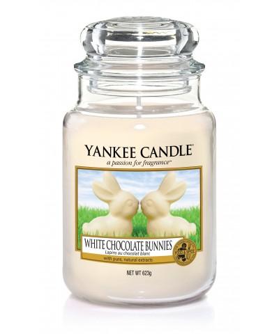 Yankee Candle - Świeca Duża - White Chocolate Bunnies - Zające z Białej Czekolady