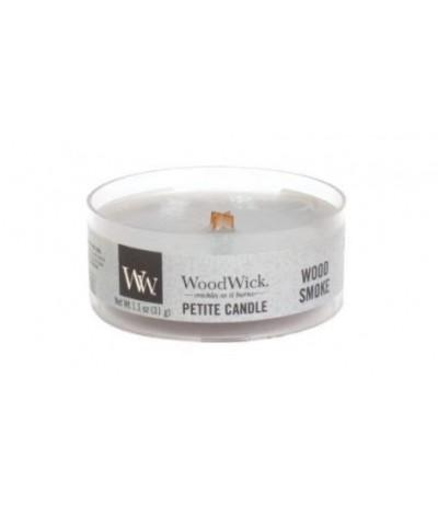 Woodwick - Petite Candle - Wood Smoke - Palone Drewno