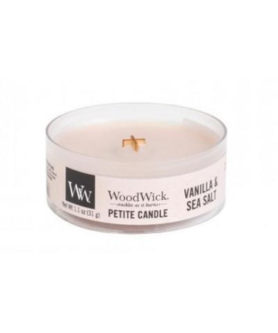 Woodwick - Petite Candle - Vanilla & Sea Salt - Wanilia i Sól Morska