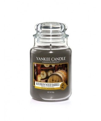 Yankee Candle -  Świeca Duża - Bourbon Wood Barrels - Burbon w Drewnianych Beczkach