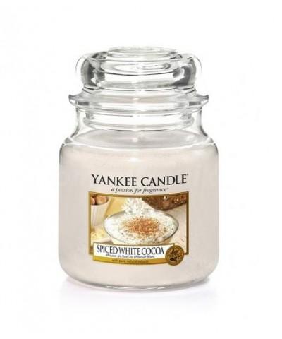 Yankee Candle - Świeca Średnia - Spiced White Cocoa - Biała Czekolada z Przyprawami