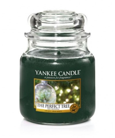 Yankee Candle - Świeca Średnia - The Perfect Tree - Perfekcyjna Choinka