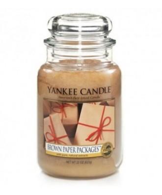 Yankee Candle - Świeca Duża - Brown Paper Packages - Paczki w Brązowym Papierze