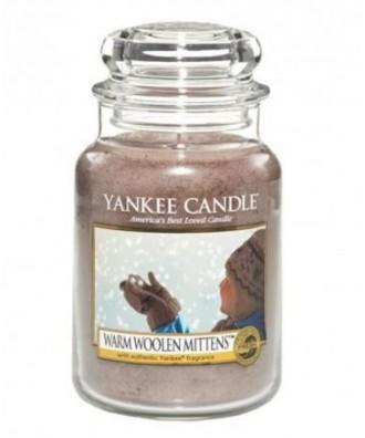 Yankee Candle - Świeca Duża - Warm Woolen Mittens - Ciepłe Wełniane Rękawiczki