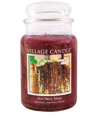 Village Candle - Świeca Duża - Acai Berry Tobac
