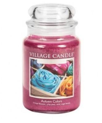 Village Candle - Świeca Duża - Autumn Colors - Kolory Jesieni