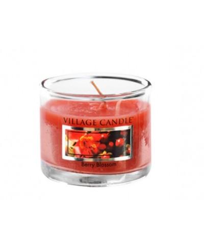 Village Candle - Glass Votive -  Berry Blossom