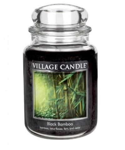 Village Candle - Świeca Duża - Black Bamboo - Czarny Bambus