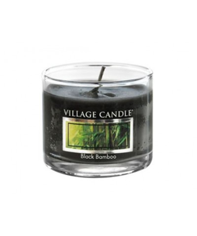 Village Candle - Glass Votive - Black Bamboo - Czarny Bambus