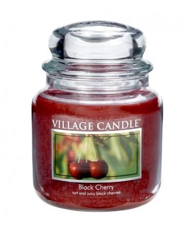 Village Candle - Świeca Średnia - Black Cherry - Słodka Wiśnia