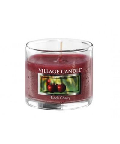 Village Candle - Glass Votive - Black Cherry - Słodka Wiśnia
