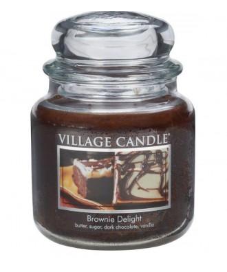 Village Candle - Świeca Średnia - Brownie Delight - Rozkoszne Brownie