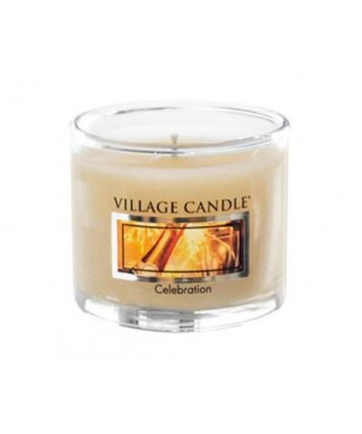 Village Candle - Glass Votive- Celebration - Świętowanie