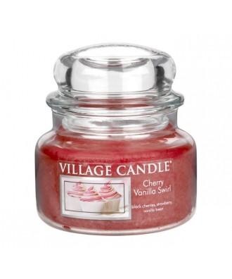 Village Candle - Świeca Mała - Cherry Vanilla Swirl - Wirująca Wiśnia z Wanilią