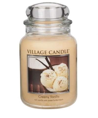 Village Candle - Świeca Duża - Creamy Vanilla - Kremowa Wanilia
