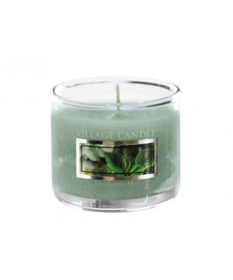 Village Candle - Glass Votive - Eucalyptus Mint - Eukaliptus i Mięta