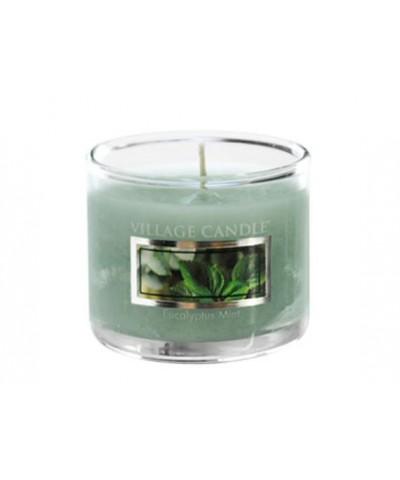 Village Candle - Glass Votive - Eucalyptus Mint - Eukaliptus i Mięta