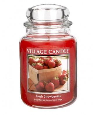 Village Candle - Świeca Duża - Fresh Strawberries - Świeże Truskawki