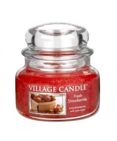 Village Candle - Świeca Mała - Fresh Strawberries - Świeże Truskawki