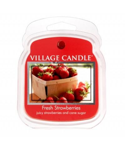 Village Candle - Wosk Zapachowy - Fresh Strawberries - Świeże Truskawki