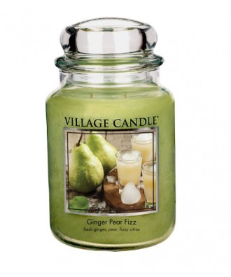 Village Candle - Świeca Duża - Ginger Pear Fizz - Musująca Gruszka z Imbirem