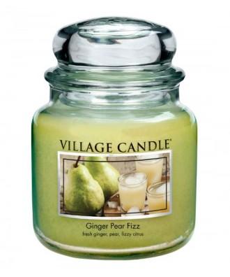 Village Candle - Świeca Średnia - Ginger Pear Fizz - Musująca Gruszka z Imbirem
