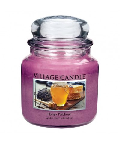 Village Candle - Świeca Średnia - Honey Patchouli - Miód i Paczula