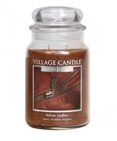 Village Candle - Świeca Duża - Italian Leather - Włoska Skóra