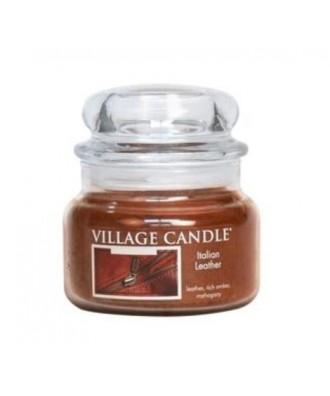 Village Candle - Świeca Mała - Italian Leather - Włoska Skóra