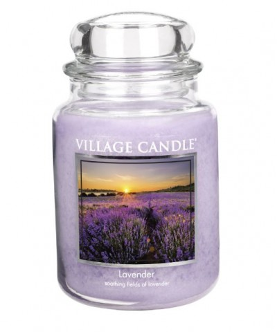 Village Candle - Świeca Duża - Lavender - Lawenda