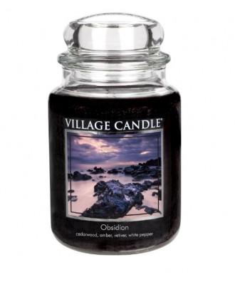 Village Candle - Świeca Duża - Obsidian