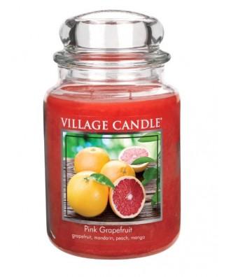 Village Candle - Świeca Duża - Pink Grapefruit - Różowy Grapefrui