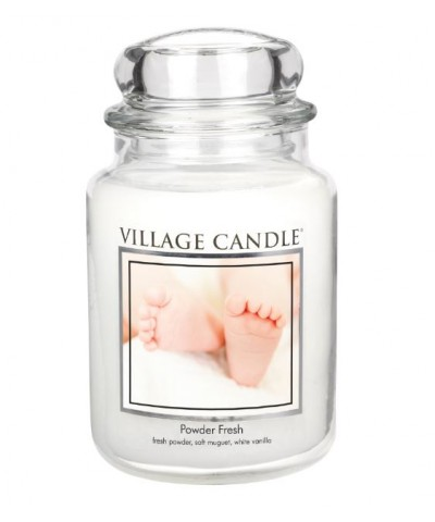 Village Candle - Świeca Duża - Powder Fresh - Pudrowa Świeżość