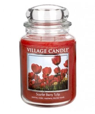 Village Candle - Świeca Duża - Scarlet Berry Tulips - Szkarłatne Tulipany