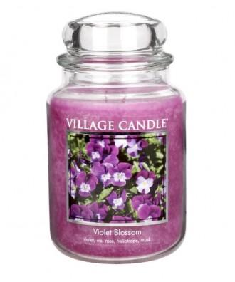 Village Candle - Świeca Duża - Violet Blossom - Kwitnące Fiołki -