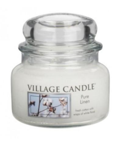 Village Candle - Świeca Mała - Pure Linen - Czysta Bawełna