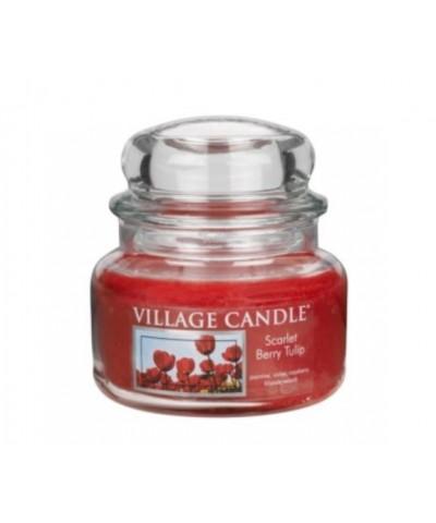 Village Candle - Świeca Mała - Scarlet Berry Tulips - Szkarłatne Tulipany