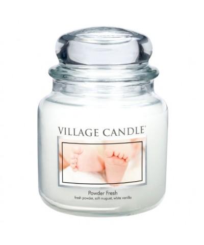 Village Candle - Świeca Średnia - Powder Fresh - Pudrowa Świeżość
