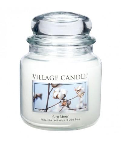 Village Candle - Świeca Średnia - Pure Linen - Czysta Bawełna