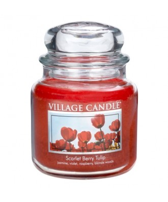 Village Candle - Świeca Średnia - Scarlet Berry Tulips - Szkarłatne Tulipany
