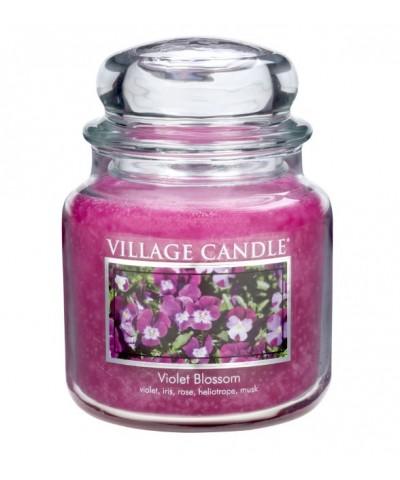 Village Candle - Świeca Średnia - Violet Blossom - Kwitnące Fiołki
