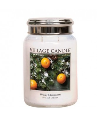 Village Candle - Winter Clementine - Zimowa Mandarynka - Świeca Zapachowa Duża