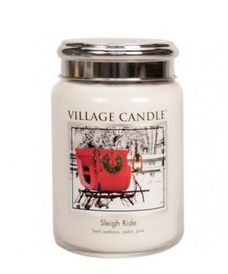 Village Candle - Sleigh Ride - Przejażdżka Saniami - Świeca Duża