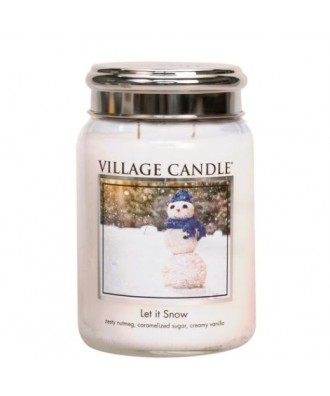Village Candle - Let It Snow - Pada Śnieg - Świeca Duża