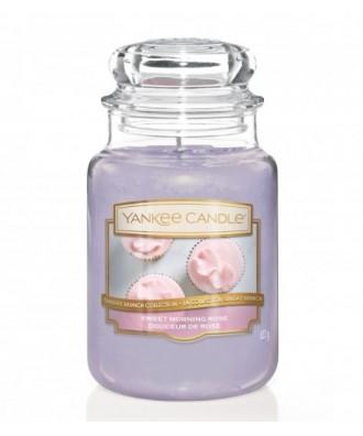 Yankee Candle - Sweet Morning Rose - Świeca Zapachowa Duża