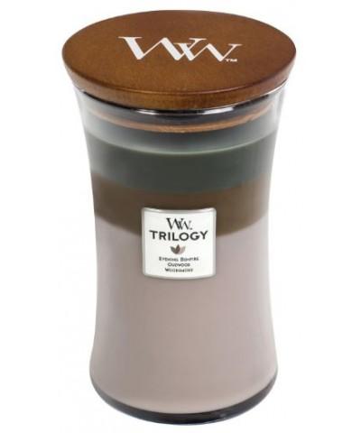 Woodwick - Cozy Cabin - Świeca Zapachowa Duża Trilogy